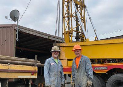Well Drilling Crew - Alpine Resources Banks Oregon